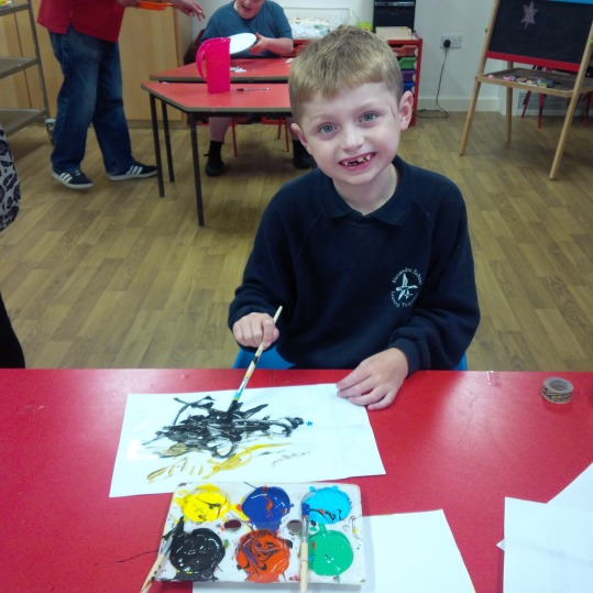 painting at afterschool club