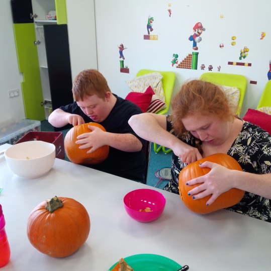 youth group pumpkin carving