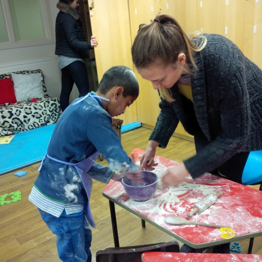 Getting messy at after school club