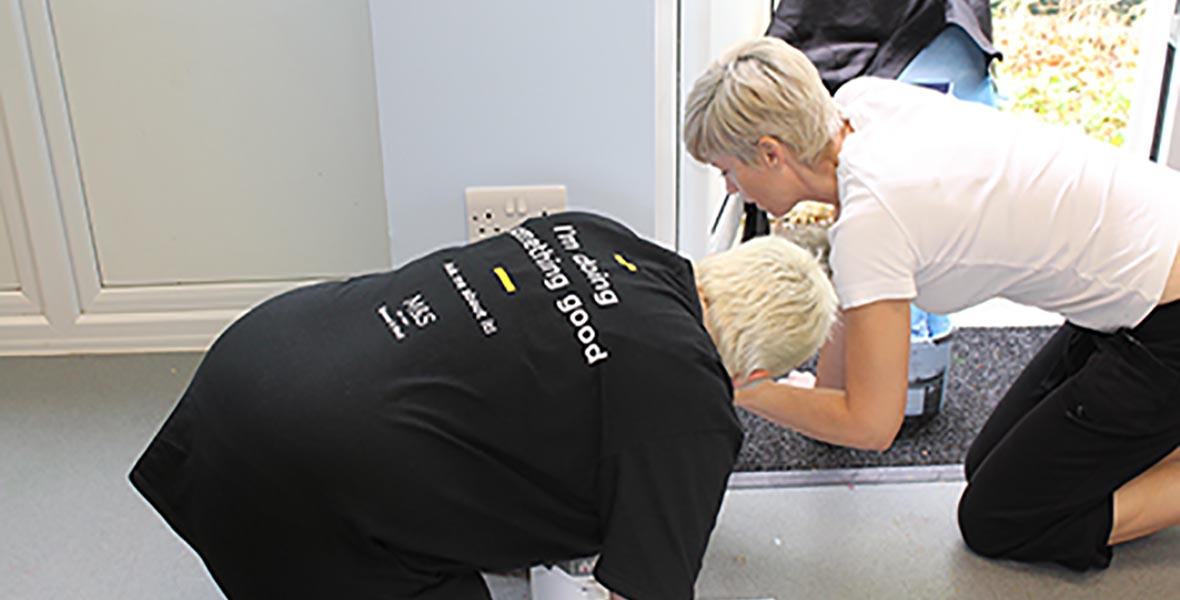 Marks and Spencer volunteers painting